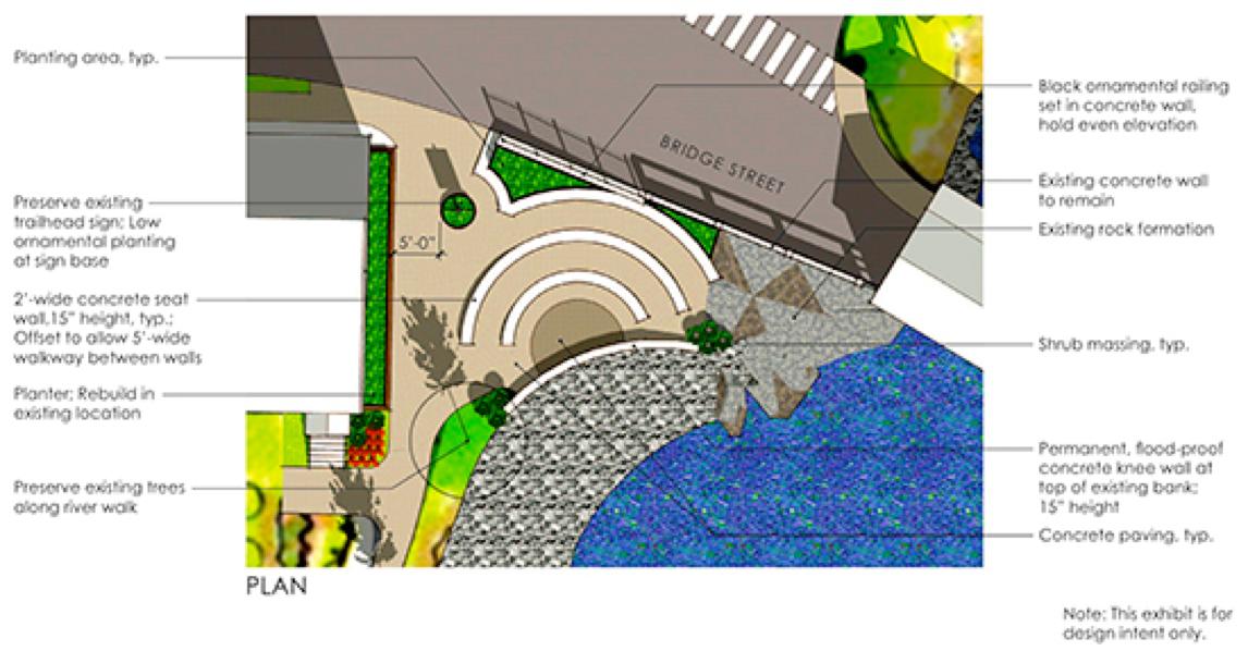 "Conceptual ""Pocket Park"" Design (Waitsfield VDAT Report, 2014)"