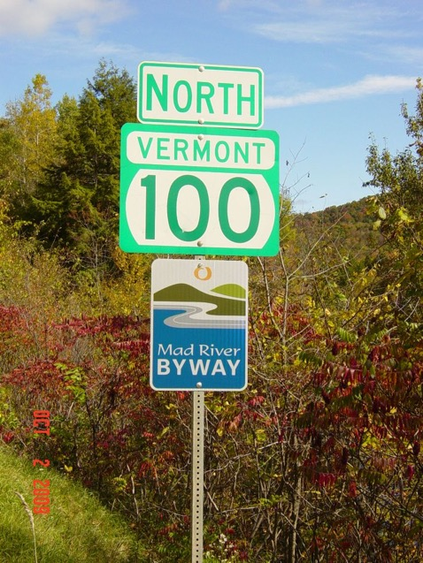 Mad River Valley Byway Signs. (Source: Joshua Schwartz)